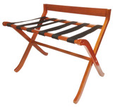 Extra Wide Modern Wood Luggage Rack w/Back- 2 pack