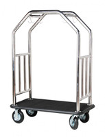 Grand Lux Bellman's Cart- Stainless Steel Finish- Wholesale Hotel Products