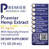 Hemp Extract, Premier (1fl oz/bottle w/dropper) NEW!!