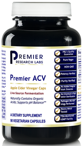 "ACV, Premier Dietary Supplement 90 Plant-Source Capsules Apple Cider Vinegar Capsules ""PRL's signature FermExcel-100 line is an industry first!"""