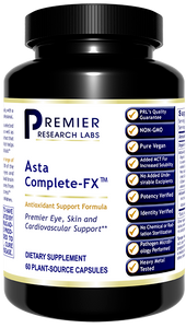 Asta Complete-FX Dietary Supplement Potent Antioxidant Formula with Algae-Based Astaxanthin  Premier Eye, Skin and Cardiovascular Support