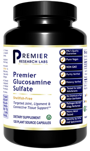 Glucosamine Sulfate, Premier  Targeted Joint, Ligament and Connective Tissue Support Shellfish-Free  120 Plant Source Capsules