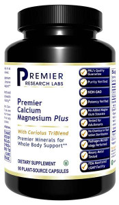 Calcium Magnesium Plus Dietary Supplement 90 Plant-Source Capsules Premier Minerals for Whole Body Support*