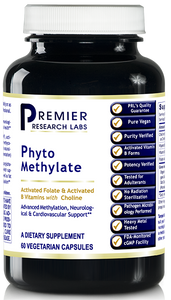 Phyto Methylate (60 Caps) Dietary Supplement 60 Plant-Source Capsules Activated Folate and Activated B Vitamins with Choline