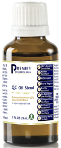 QC Oil Blend Quantum Coherence Essential Oil Blend Identity • Purity • Strength • Composition Achieving Quantum Coherence
