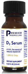 D3 Serum - Live source natural vitamin D3 - for healthy bones, brain, nerves, heart, lungs, breasts, digestive/sexual organs & more