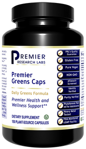 Greens, Premier (Caps) Dietary Supplement Super Nutrition Greens Formula with Power Grass-Plus Blend Premier Health and Wellness Support  150 PLANT-SOURCE CAPSULES     Gluten-Free