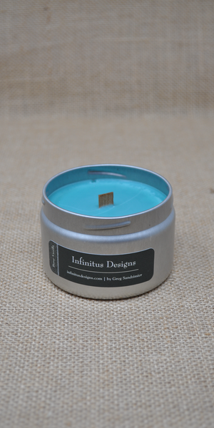 6 oz Infinity Lux Scented Soy Wax Candle, by Infinitus Designs
