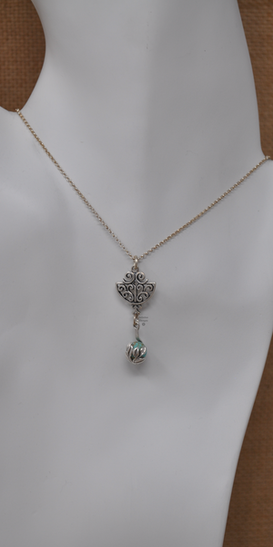 Turquoise Draper Necklace, by Infinitus Designs