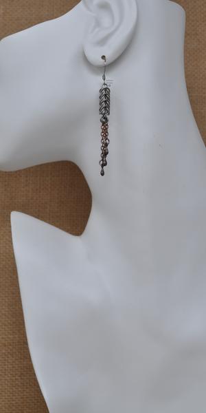 Antique Copper Squid Earrings, by Infinitus Designs