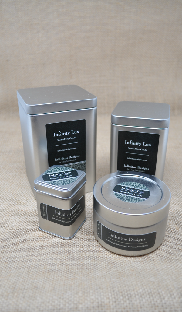 Infinity Lux Scented Soy Wax Candles, by Infinitus Designs