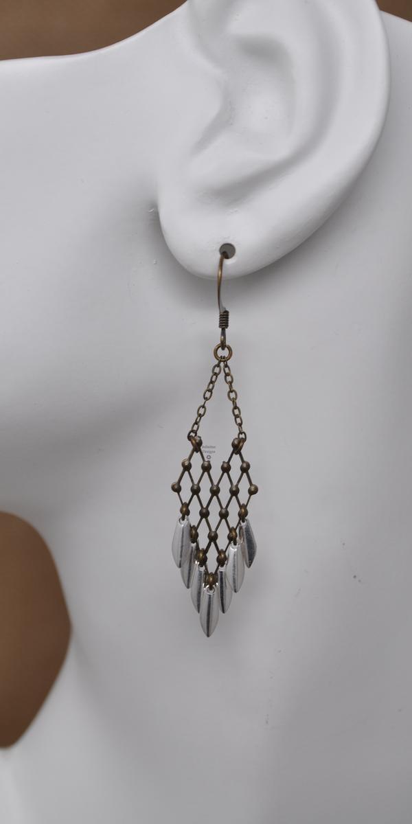Lattice Earrings, by Infinitus Designs