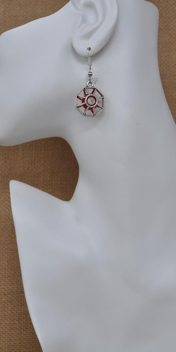 Red Starburst Earrings, by Infinitus Designs
