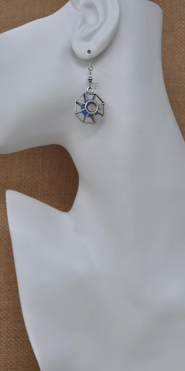 Blue Starburst Earrings, by Infinitus Designs
