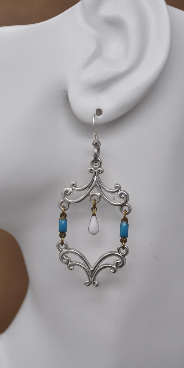 Vintage Snowflake Earrings, by Infinitus Designs