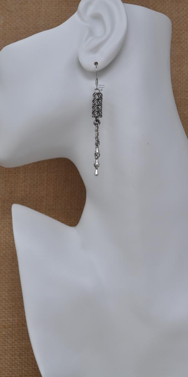 Chrome Squid Earrings, by Infinitus Designs