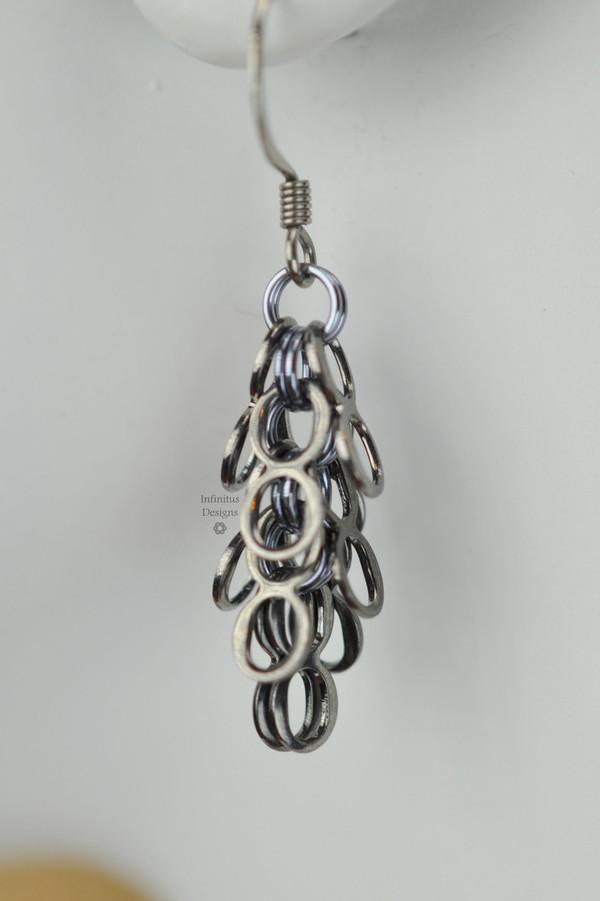Black Ice Infinity earrings, by Infinitus Designs