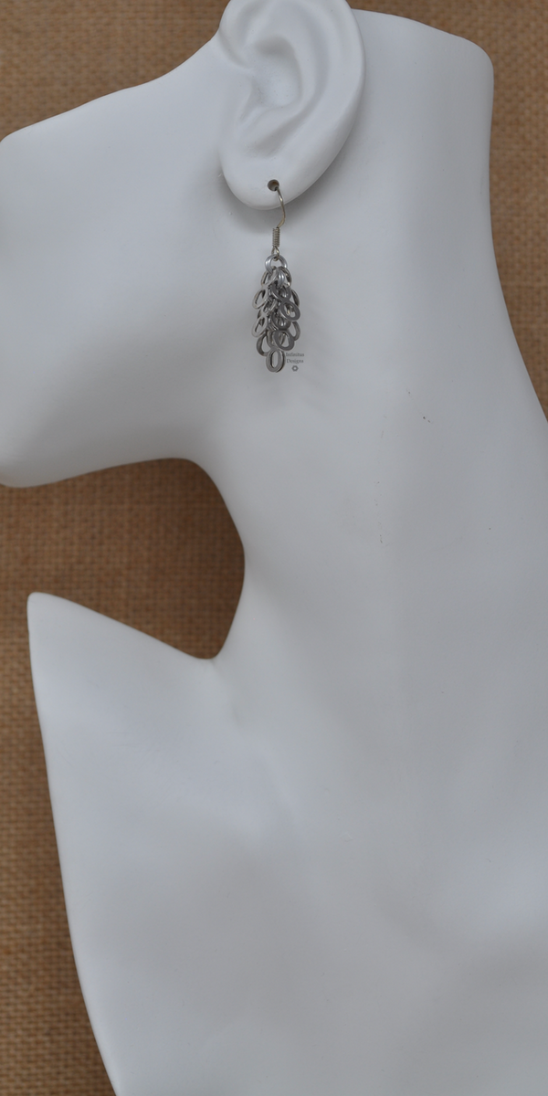 Platinum Infinity earrings, by Infinitus Designs