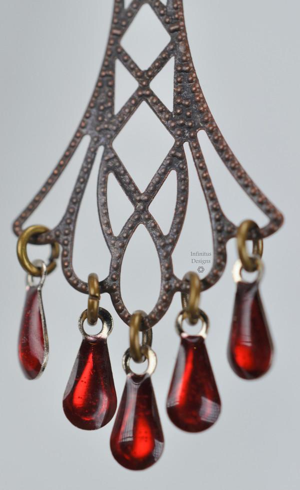 Red Flapper Earrings, by Infinitus Designs