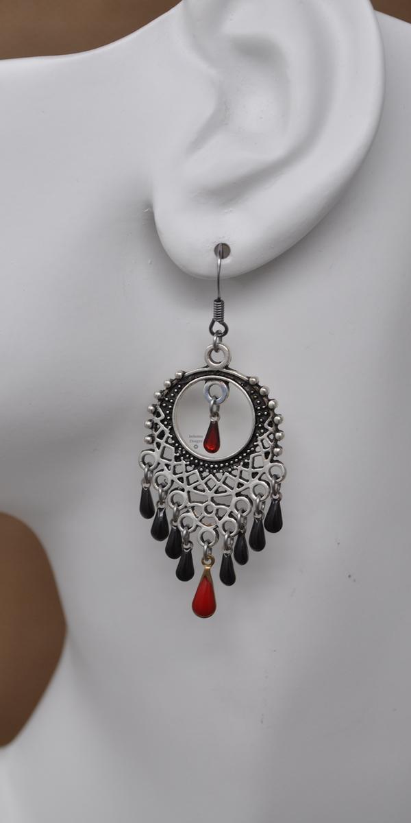Blood Moon Earrings by Infinitus Designs