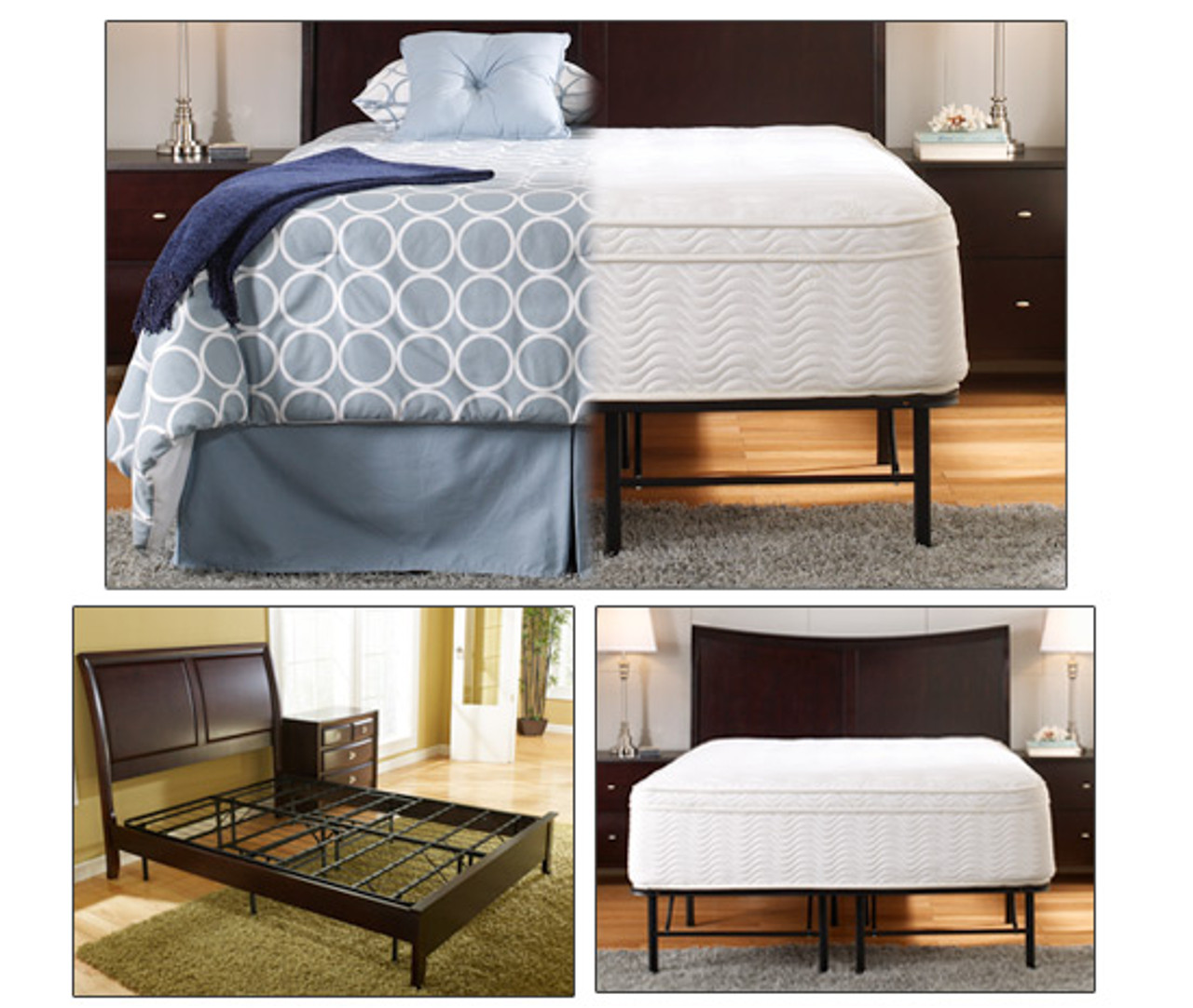 The attractive and heavy-duty frame will support even the heaviest of weterbeds while providing ample underbed storage space.