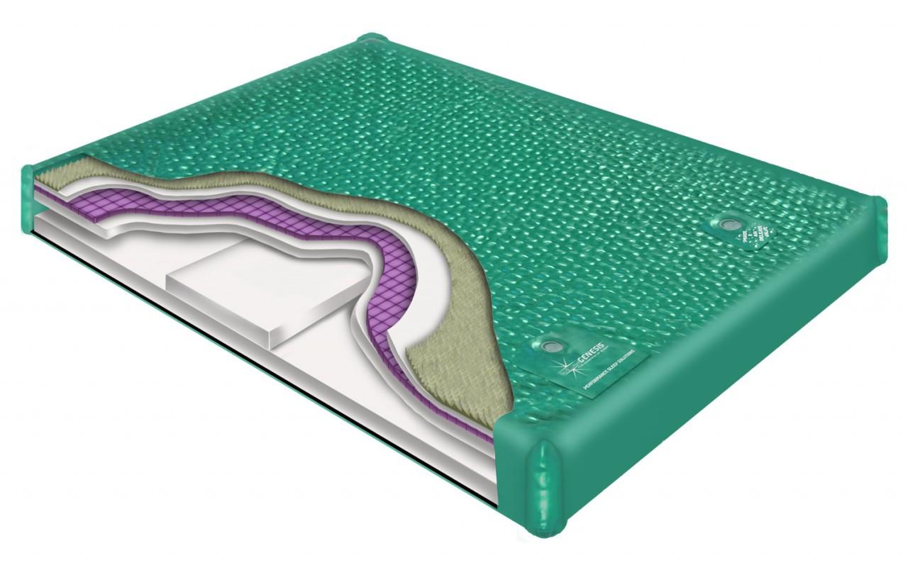 900 DXF waveless hardside waterbed mattress