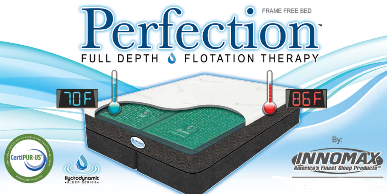 Perfections 9 Inch Frame Free Deep Fill Softside Waterbed