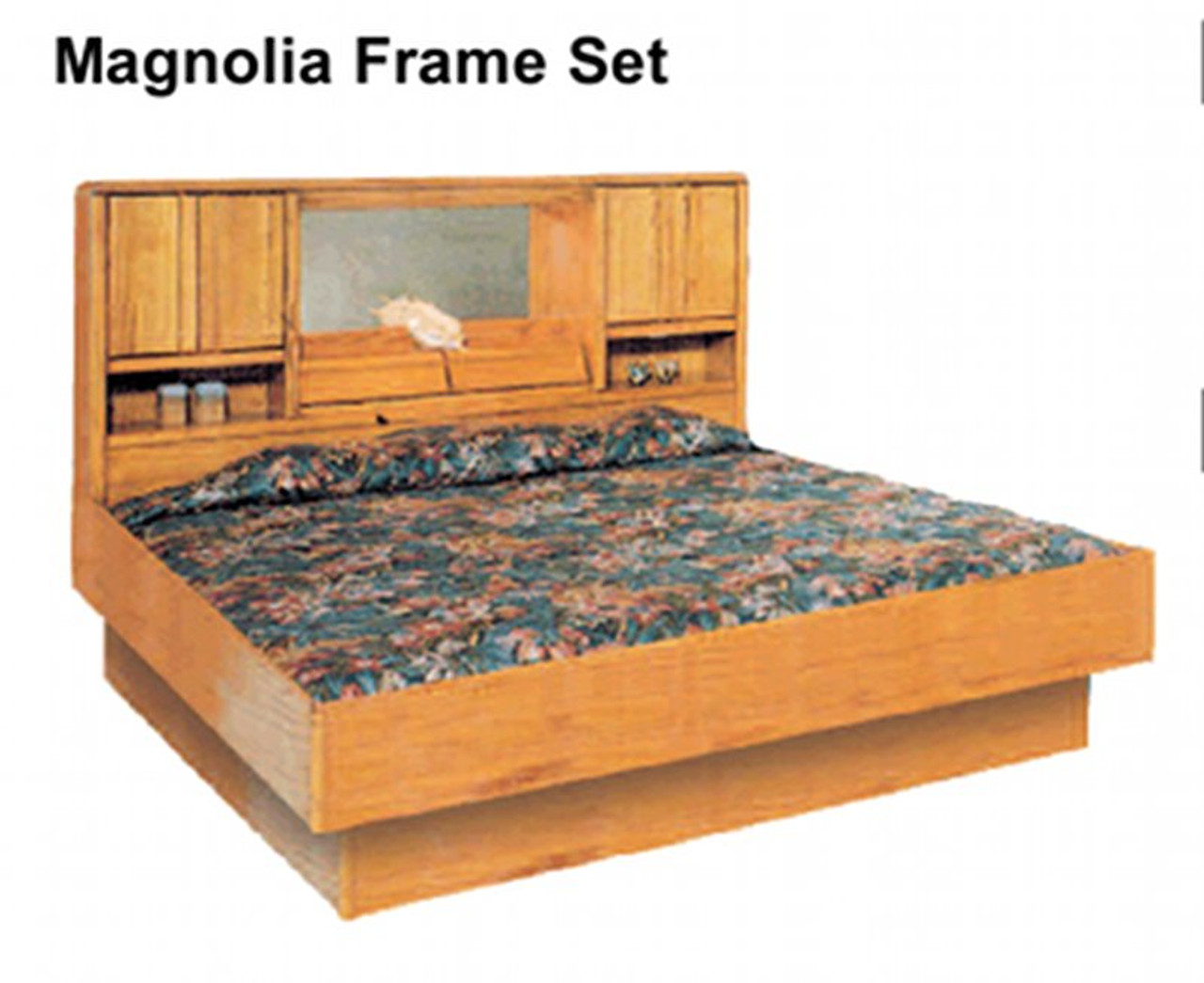 La Jolla Magnolia Oak Waterbed Frame. Oak Bedroom furniture