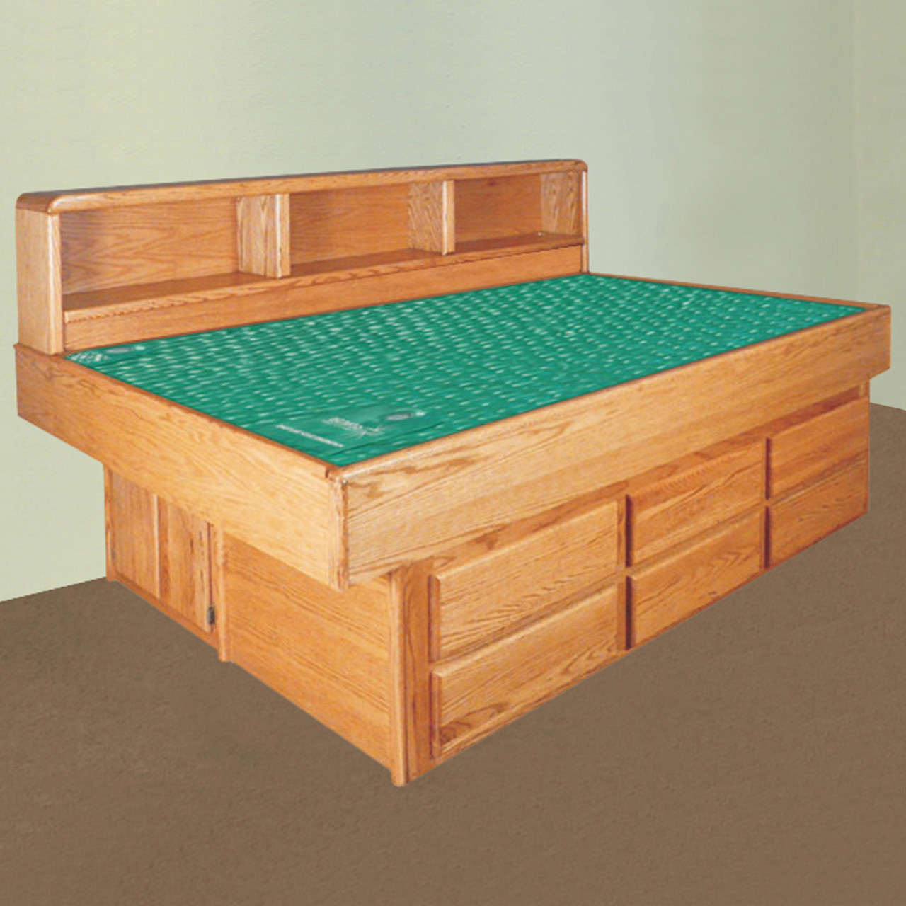 Oak Youth Waterbed Super Single Free Shipping Waterbed Bargains Waterbed Superstore