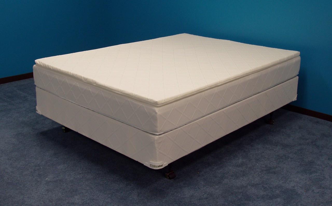 Strobel Futura Waterbed with 1.5-inch memory foam layer