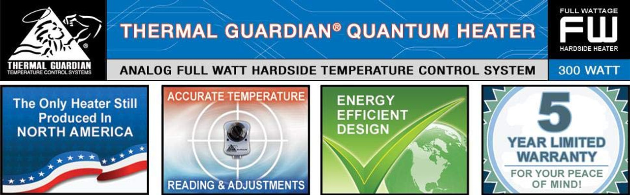 Hardside Waterbed Quantum Thermal Heater Element with Controller FREE CONDITIONER AND THREE PATCH KITS