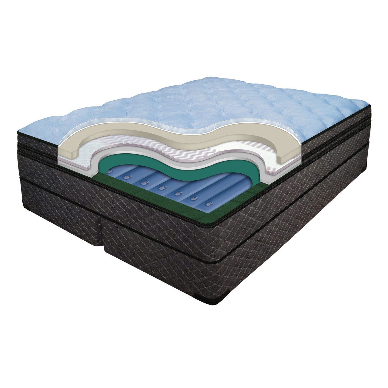 Cashmere 13 Inch Mattress Softside Luxury Support Waterbed