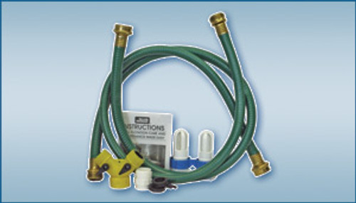 Waterbed dual mattress hose kit with Y-adapter