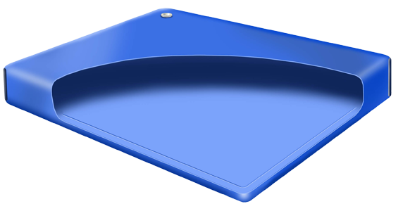 Hardside waterbed cutaway