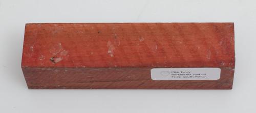 "Pink Ivory Turning Stock - 1 7/16"" x 1 7/16"" x 6"" (waxed)"