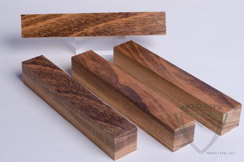 "Jobillo (Tigerwood) 7/8"" Pen Blanks - 4 Pack"