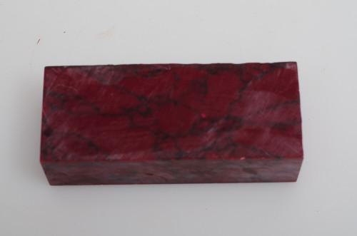 """Red Jasper TruStone - 1.5"""" x 1"""" x 3.75"""""""