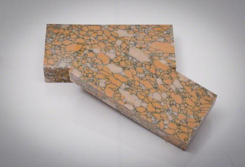 """Leopard Skin Jasper TruStone Knife Blank - 2"""" x 5"""" x 7/8"""""""