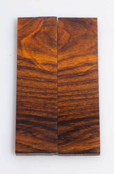 "Cocobolo Knife Scales - Bookmatched 1 3/4"" x 6"" x 3/8"""