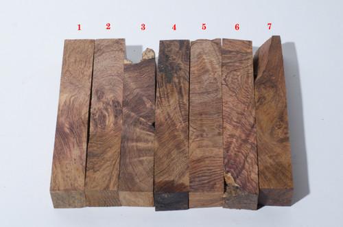 Honduran Rosewood Burl Pen Blanks