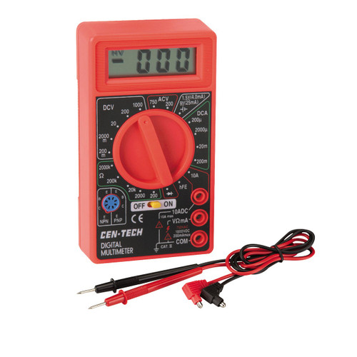 simple, low cost, test meter with leads