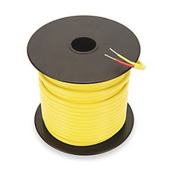 Type K 24 gauge thermocouple wire 100 foot spool.  PTFE insulation