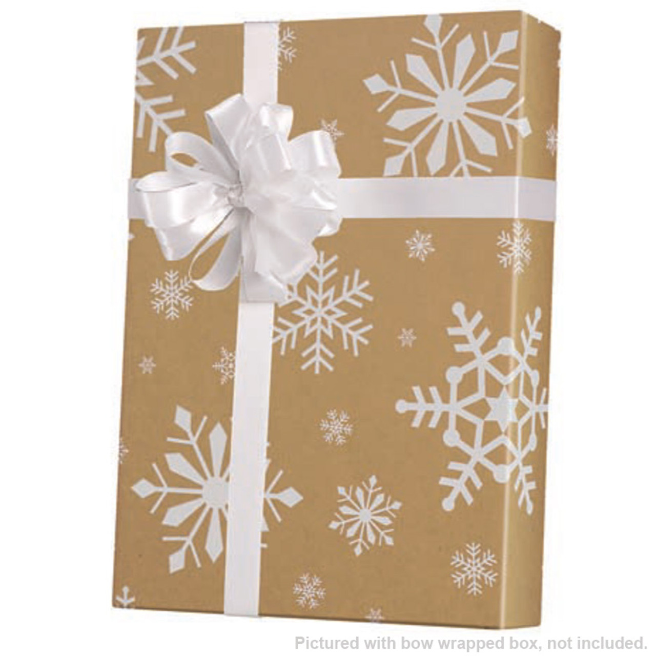 Kraft Paper Gift Wrap in Snow Day, 200 or 830 Sq  Ft