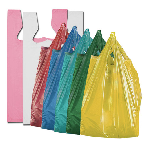 821815e41f Solid color shopping bags. T-shirt style. All purpose for grocery