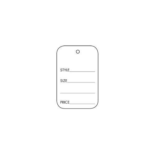 Blank Perforated Coupon Price Tag
