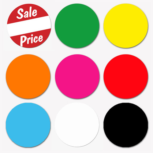 1 promotional circle labels