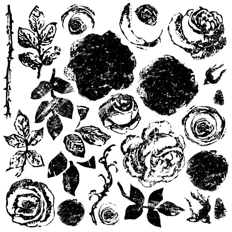 IOD Decor Stamp™ Painterly Roses
