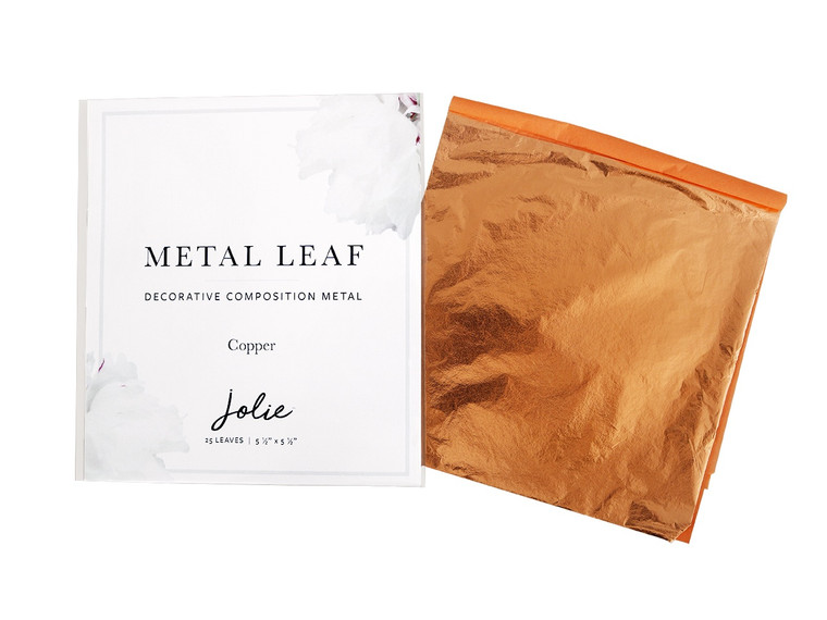 Jolie  Metal Leaf   Copper