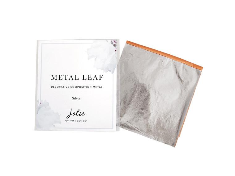 Jolie  Metal Leaf   Silver