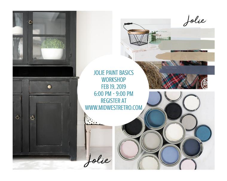 Jolie Home Paint Jolie Workshop Furniture Painting DIY Home Décor Chicago Chalk style paint